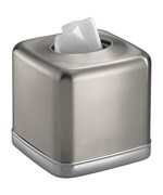 York Stainless Tissue Box Cover
