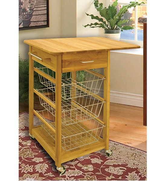 Drop Leaf Folding Basket Cart Image