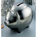 Brushed Nickel Plated Piggy Bank