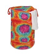 Folding Laundry Hamper - Tie-Dyed