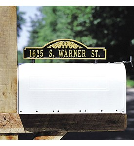 Scroll Two-Sided Mailbox Address Marker Image