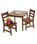 Childrens Wooden Table and Chairs - Cherry