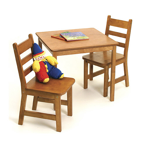 Childrens wooden table and chairs pecan in kids furniture Wooden childrens furniture