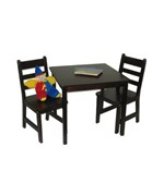 Childrens Wooden Table and Chairs - Espresso