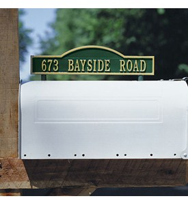 Arch Two-Sided Mailbox Address Marker Image