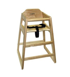 Wooden High Chair - Natural Image