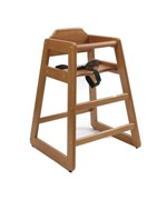 Wooden High Chair - Pecan