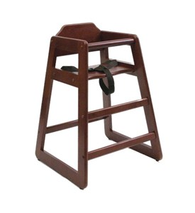 Wooden High Chair - Cherry Image