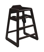 Wooden High Chair - Espresso