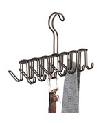 Interdesign Tie and Belt Rack - French Bronze
