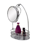 Bath Vanity Mirror with Basket