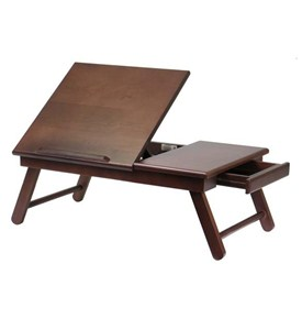 Foldable Walnut Lap Desk Image