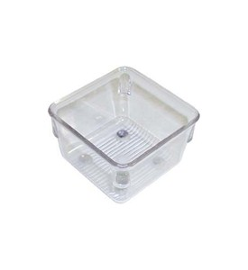 Narrow Clear Plastic Drawer Organizer - Square Image