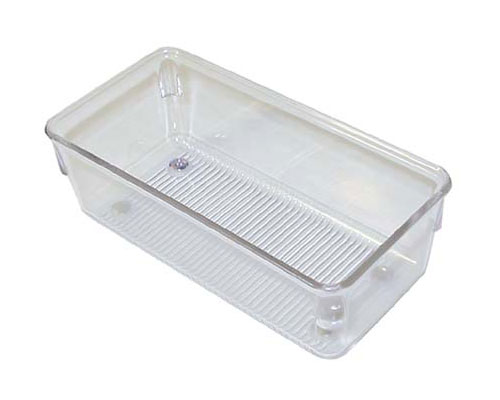 Narrow Clear Plastic Drawer Organizer Small In Drawer Bins