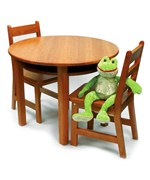 Childrens Table and Chairs Set - Pecan