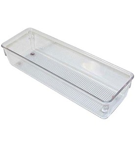 Narrow Clear Plastic Drawer Organizer - Medium Image