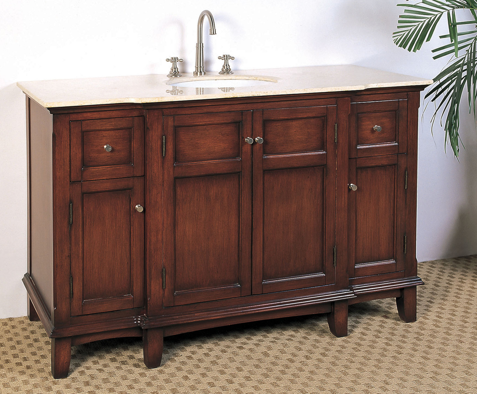 53 inch single sink bathroom vanity in bathroom vanities for Single bathroom vanity