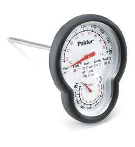 Dual Meat and Oven Thermometer with Silicone Grip Image