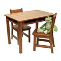 Kids Table and Chair Set - Pecan