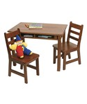 Kids Table and Chair Set - Cherry
