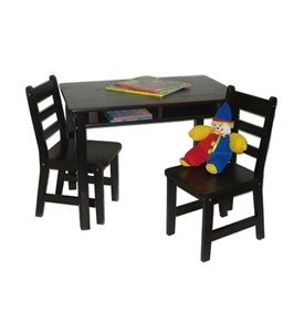 Kids Table and Chair Set - Espresso Image