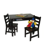 Kids Table and Chair Set - Espresso
