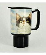 Ceramic Travel Cup - Cat Mug