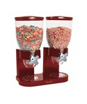 Red Double Dry Food Dispenser