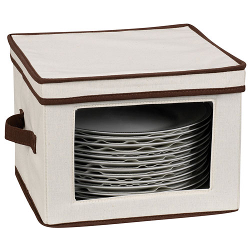 Vision Canvas Dinner Plate Storage Box In China Storage