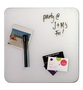 Glass Magnetic Dry Erase Board - White Image