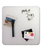 Glass Magnetic Dry Erase Board - White