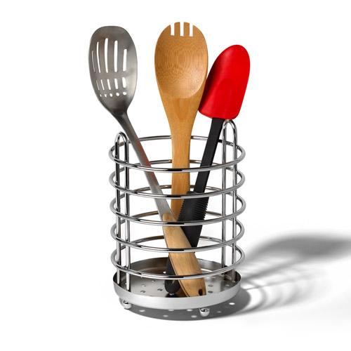 Pantry Works Chrome Kitchen Utensil Holder In Kitchen Utensil Holders