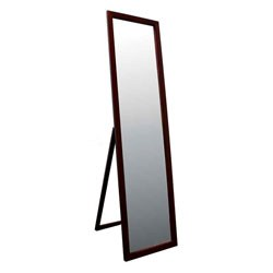 55 Inch Walnut Finish Stand Mirror Image