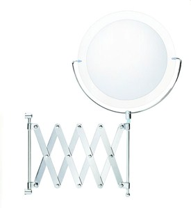Wall Mounted Extendable Makeup Mirror Image