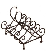 Plate Holder - Wrought Iron - 4 Plate