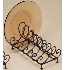 Plate Holder - Wrought Iron - 6 Plate Image