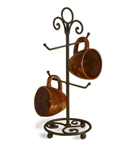 Wrought Iron Countertop Mug Holder Image