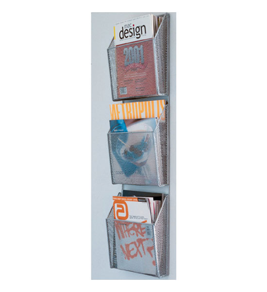 magazine rack 3level mesh wall file