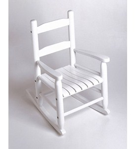 Childrens Rocking Chair - White Image