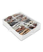 Under bed Shoe Organizer - White