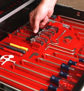 Tool Drawer Liner and Toolbox Organizer System Image