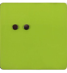 Glass Magnetic Dry Erase Board - Green Image