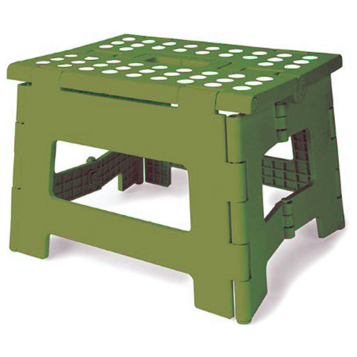 Kikkerland Easyfold Green Step Stool 8 5 Inches In Step
