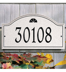 Boca Raton Carved Stone Address Plaque - Estate Image