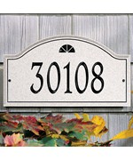 Boca Raton Carved Stone Address Plaque - Estate