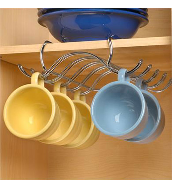 Under The Shelf Steel Cup Holder - Chrome in Under Shelf ...