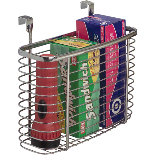 InterDesign Over the Cabinet Storage Basket Image - InterDesign Over The Cabinet Storage Basket In Cabinet Door Organizers