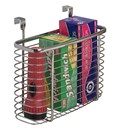 Silver Mesh Mounted Kitchen Wrap Organizer in Food Wrap Holders