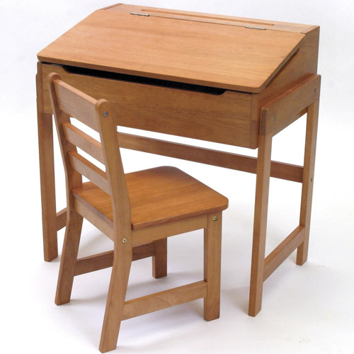 Kids desk and chair pecan in kids desks for Best desk chair for kids