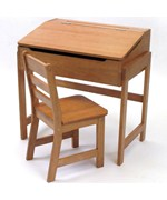 Kids Desk and Chair - Pecan